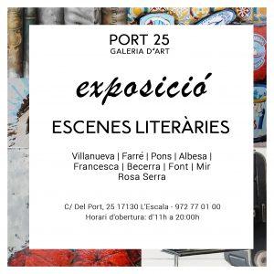 Cartell Exposició Escenes Literàries Vila del Llibre l'Escala 2020